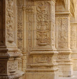 Monastery of jeronimos. Columns in monastery of jeronimos in belem, lisbon Royalty Free Stock Images