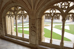 Monastery of jeronimos. Gallery in monastery of jeronimos in belem, lisbon Stock Photos