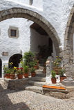 Monastery of John the Evangelist. Patmos island Stock Photos