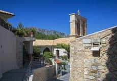Monastery Kera Kardiotissa in the mountains of Crete. Greece Royalty Free Stock Photo
