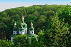 Monastery in Kiev. Ukraine. Panoramic view to the Vidubichi monastery, Kiev, Ukraine Stock Image