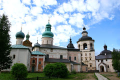 Monastery (Kirillo-Belozersky). Autotravel to north of Russia Stock Photos