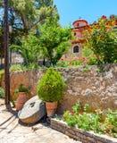 The monastery Kremaston, Crete, Greece. Monastery of Saints Michael and Gabriel - Kremaston Kremasti, Kremasta Crete, Greece. The monastery Kremaston was founded royalty free stock photography