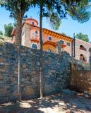 The monastery Kremaston, Crete, Greece. Monastery of Saints Michael and Gabriel - Kremaston Kremasti, Kremasta Crete, Greece. The monastery Kremaston was founded stock photography