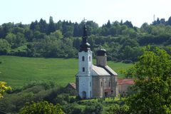 Monastery Sisatovac in Serbia Stock Photo