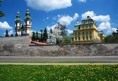 Monastery in Krzeszow, Poland. Big monastery in Krzeszow, Poland Royalty Free Stock Image