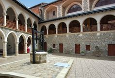 Monastery Kykkos in Cyprus, Troodos mountains. Popular tourist destination in this country Stock Image