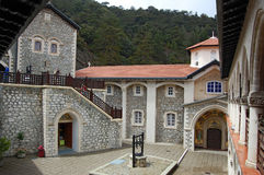 Monastery Kykkos in Cyprus, Troodos mountains. Popular tourist destination in this country Stock Photos