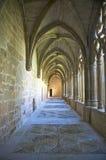 Monastery of la oliva cloister Stock Photos
