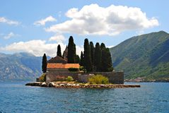Monastery on the lake Royalty Free Stock Photography