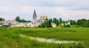 The monastery on the lake Royalty Free Stock Photography