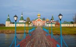 Monastery on Lake Valdai Stock Photography