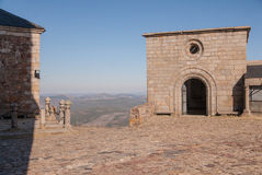 Monastery landscape. Cross square  monastery Salamanca (Spain Royalty Free Stock Photos