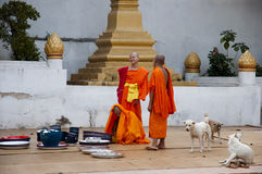 Monastery - Laos Royalty Free Stock Images