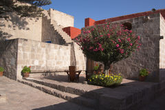 Monastery leisure corner Stock Photography