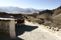 Monastery in Lhasa, Tibet Stock Photo