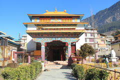 Monastery In Manali. Front view of a Buddhist Monastery at hill station Manali Stock Image