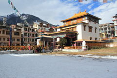 Monastery In Manali. Side view of a Buddhist Monastery at hill station Manali Royalty Free Stock Images