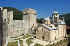 Monastery Manasija. Serbian Orthodox Monastery Manasija, also known as Resava, founded by Despot Stefan Lazarevic between 1406 and 1418 Royalty Free Stock Photos