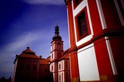 Monastery Marianska Tynice, Czech Republic. Baroque monastery Marianska Tynice, Czech Republic Stock Photos