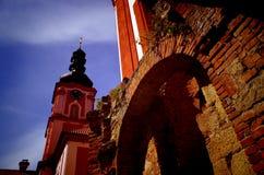 Monastery Marianska Tynice, Czech Republic. Baroque monastery Marianska Tynice, Czech Republic Royalty Free Stock Photos