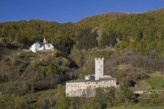 Monastery Marienberg and castle Fürstenburg Royalty Free Stock Photos