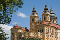 Monastery Melk. Famous church and meeting point of reams visitors Stock Photos