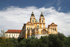 Monastery Melk. Nice view on the cloister Melk Royalty Free Stock Photos
