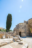 Monastery  in Messara Valley at Crete island in Greece. Messara - is largest plain in Crete Royalty Free Stock Photo