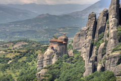 Monastery of Meteora. In Greece royalty free stock image