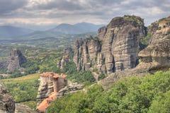 Monastery of Meteora. In Greece royalty free stock photos