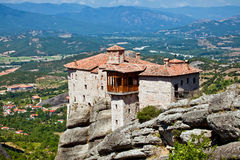 The monastery in Meteora, Greece Royalty Free Stock Photos
