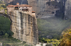 Monastery at Meteora in Greece Stock Photography
