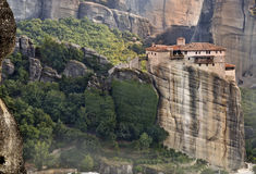 Monastery at Meteora in Greece Royalty Free Stock Images