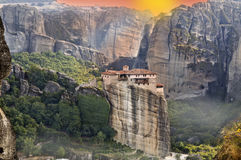 Monastery at Meteora in Greece Stock Images