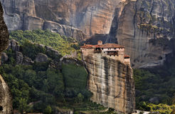 Monastery at Meteora in Greece Royalty Free Stock Photos