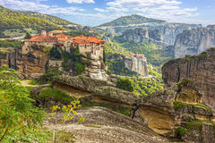 Monastery from Meteora-Greece Royalty Free Stock Photo