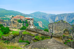 Monastery from Meteora-Greece. Royalty Free Stock Image