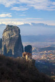 Monastery Meteora Greece Royalty Free Stock Images