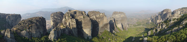 Monastery of Meteora landscape Stock Images