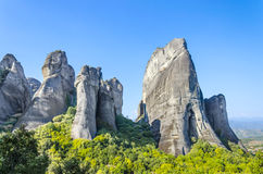 Monastery on Meteora mountain, Greece Stock Photo