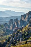 Monastery in Meteora, Northern Greece in Spring 2018 royalty free stock photos