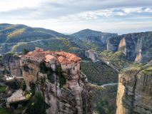 Monastery in Meteora, Northern Greece in Spring 2018 royalty free stock images