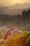 Monastery at Meteora - religious greek landmark Stock Photo