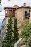 Monastery in Meteora rocks. Greece Stock Photos