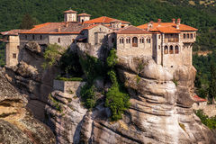 Monastery at Meteora in Trikala region, Greece. Royalty Free Stock Image