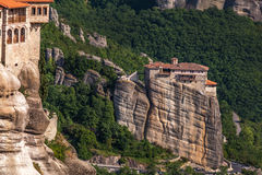 Monastery at Meteora in Trikala region, Greece. Stock Photos