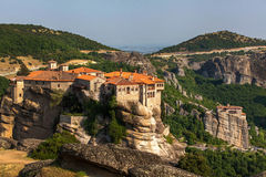 Monastery at Meteora in Trikala region, Greece. Stock Images