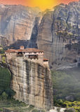 Monastery at Meteroa in Greece Royalty Free Stock Image