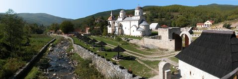 Monastery Mileseva. In central Serbia, Serbian Orthodox Church, near Prijepolje stock image